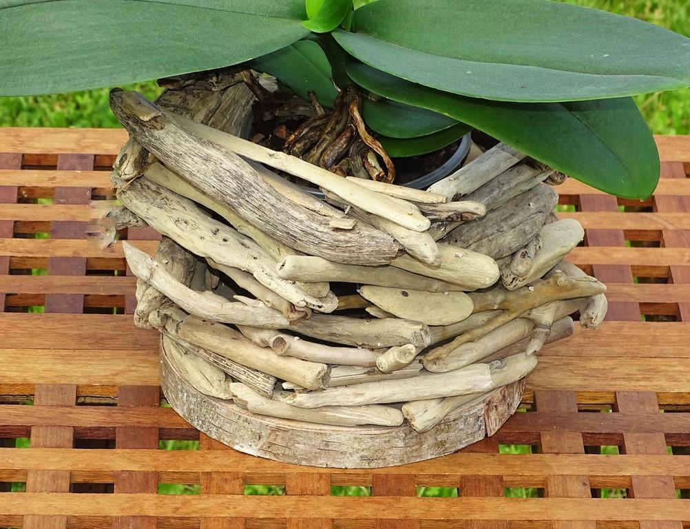 mobile coquillage et bois flotte